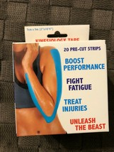 321 STRONG 0 PRE-CUT STRPS KINESIOLOGY TAPE FOR MUSCLE & INJURY RELIEF BLUE - $11.29