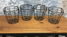 Small Wire Baskets with Handles, Farmhouse Baskets, Round Metal Storage ... - $88.00