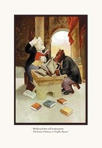 Teddy Roosevelt's Bears: Teddy B and Teddy G Studying Latin by R.K. Culver - Art - $19.99+