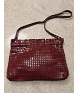 Vintage Brown Acrylic Mesh Shoulder Bag With Leather Strap - $18.70