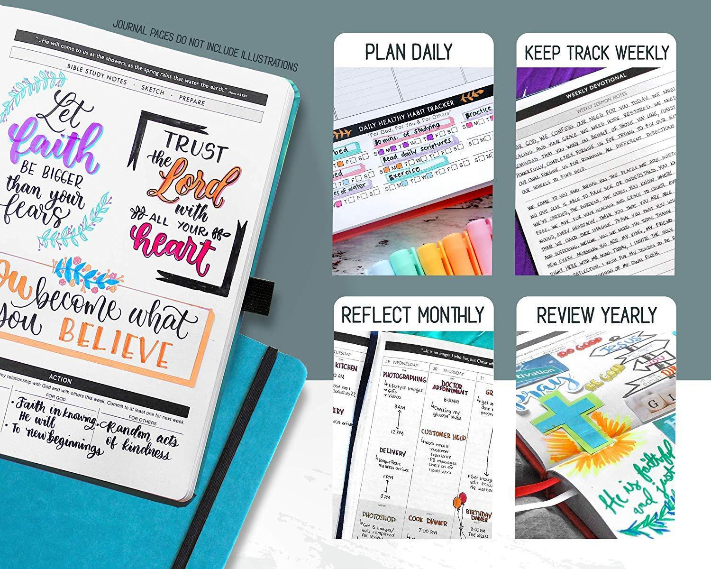 "Christian Planner 2020 Planner, Bible Journal, and Gratitude Journal | 7""x10"" La image 2"