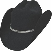 Bullhide 8X Montecarlo Collection Fur Blend Cowboy Hat - VACILON - BLACK - $90.00