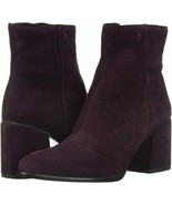 A|X Armani Exchange Womens 40.5 (10) Suede Boots Block Heel Burgandy - New - $98.99