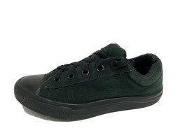 Converse All Star toddlers kids textile sneakers laces tow top dark green size 3 - $21.66