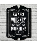 Whiskey & Moonshine Personalized Bar Sign - $65.26 CAD+