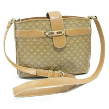 CELINE Macadam PVC Leather Shoulder Bag Beige Auth ar1154 - $210.00