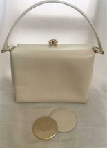 Auth GUCCI Hand Bag Cream OLD Gucci Vintage with Mirror Pouch Solid G470 - $402.93