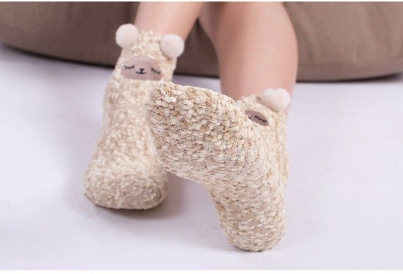 Kawaii Clothing Ropa Harajuku Alpaca Socks Japanese Animal Fur Ears Calcetines