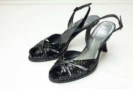Stuart Weitzman 7 Black Sling Back Dress Sandals - $148.00