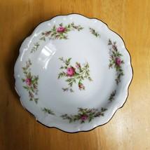 FOUR Johann Haviland Moss Rose Fruit Bowls White Pink Roses Bavarian Bac... - $11.87