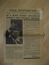 NEA Reporter Newspaper - 1963 National Education Association USA John F ... - $39.59