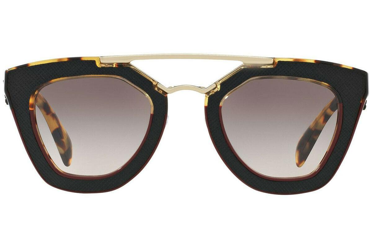 PRADA ORNATE SAFFIANO LEATHE PR14SS VHC4K0 Havana Amaranth Pink Grey Sunglasses image 2