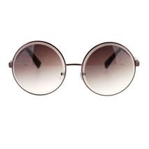 Womens Thick Beveled Glass Circle Lens Round Metal Rim Hippie Retro Sung... - $7.95