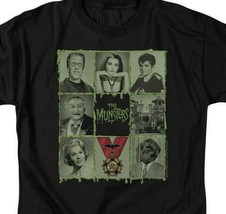 The Munsters graphic t-shirt Munster collage characters retro 60s TV NBC894 image 2