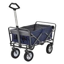 Folding Utility Cart 150 Lbs Capacity Blue Compact Convenient Shopping G... - $68.99