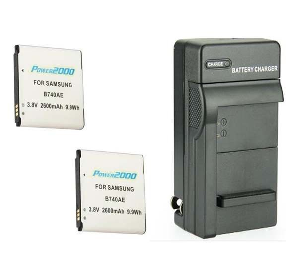 TWO 2 B740 B740AE Batteries + Charger for Samsung Galaxy S4 Zoom SM-C105 SM-C101 - $29.69