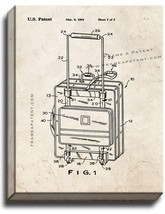 Suitcase Patent Print Old Look on Canvas - $39.95+