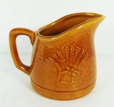 """Small Pitcher Franciscan Wheat Golden Brown 4"""" tall Oven Safe USA Gladdi... - $12.86"""