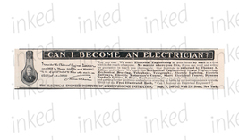 Thomas Edison Light Bulb Electricity 1903 Small Ad Occupational Electrician - $12.99