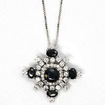 Halskette Silber 925, Kette Venetian, Anhänger Anhänger Schneeflocke, Zirkonia image 2