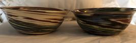 Dessert Sands Pottery 2 Swirl Bowls USA - $34.60