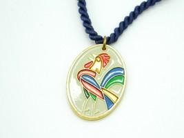 De Colores Multi-Color Enamel Rooster Pendant Necklace - $13.86