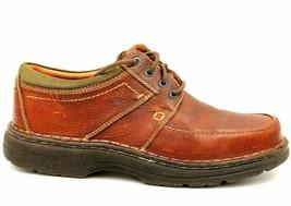 Clarks Wave Walk Men Leather Moc Toe Comfort Oxfords Size US 8.5M Brown - $32.63