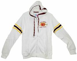 Iowa State Cyclones Full Zip Hoodie Jacket with Bling, White, Medium - $24.74
