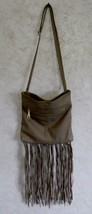 Steve Madden Light Brown PU Faux Leather Hand Bag Bottom Fringe Polyeste... - $19.68