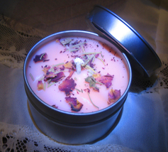 Haunted COVEN CAST HAPPY MARRIAGE CANDLE PEACH NECTAR ROSE & ROSEMARY MAGICK  - $30.00