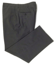 Haggar Dress Pants Slacks Flat Front Dark Gray Wrinkle Resistant Size 36x30 - $15.79