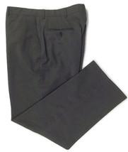 Haggar Dress Pants Slacks Flat Front Dark Gray Wrinkle Resistant Size 36x30 - $15.79