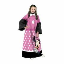 Minnie Mouse Pink Comfy Throw Blanket w/Sleeves Wrap Around Warm Soft Cozy - $16.88
