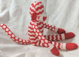 GANZ In Stitches 16 Inch Holiday Red And White Monkey Age 3 Plus image 4