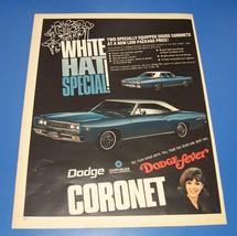 1968 Dodge Coronet 440 ~ Dodge Fever Original Print Ad ~ Muscle Car - $11.40