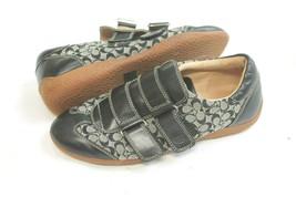 Coach SZ 7.5 Signature C Logo Canvas Fabric Susanna Sneakers Shoes LEATHER TRIM - $34.65