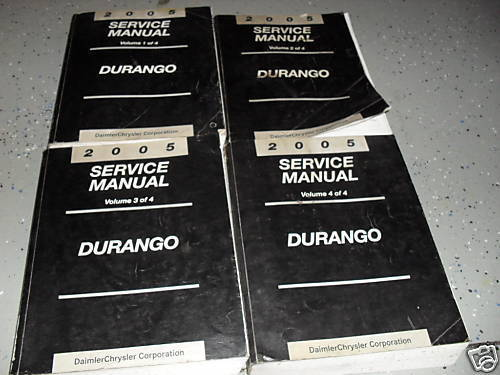 Primary image for 2005 DODGE DURANGO SUV TRUCK Service Repair Workshop Shop Manual Set Factory
