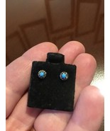 Turquoise Silver stud earrings, new - $5.89