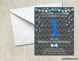1st First Birthday Party Invitations Personalized Custom - $0.99+