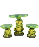 Four Seasons Home 3-Piece Frog Lily Pad Table Chair Novelty Patio Furnit... - $379.90