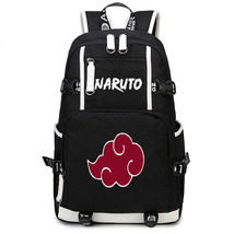 Naruto Theme Fighting Anime Series Backpack Schoolbag Daypack Bookbag Red Cloud - $36.99