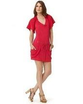 Nanette Lepore $240 Sommerset Hot Pink Silk Linen Crochet Draped Sweater... - $40.00