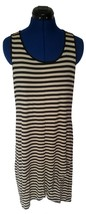 Design History Womens Hi Lo Striped Long Maxi Dress Size Medium Boho Hem... - $380,24 MXN