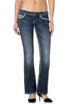 Rock Revival Women's Premium Boot Cut Denim Jeans Ena B18 image 1