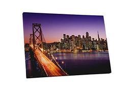 "Pingo World 0901Q2RNWEM ""San Francisco Bay Bridge Skyline"" Gallery Wrapp... - $138.55"