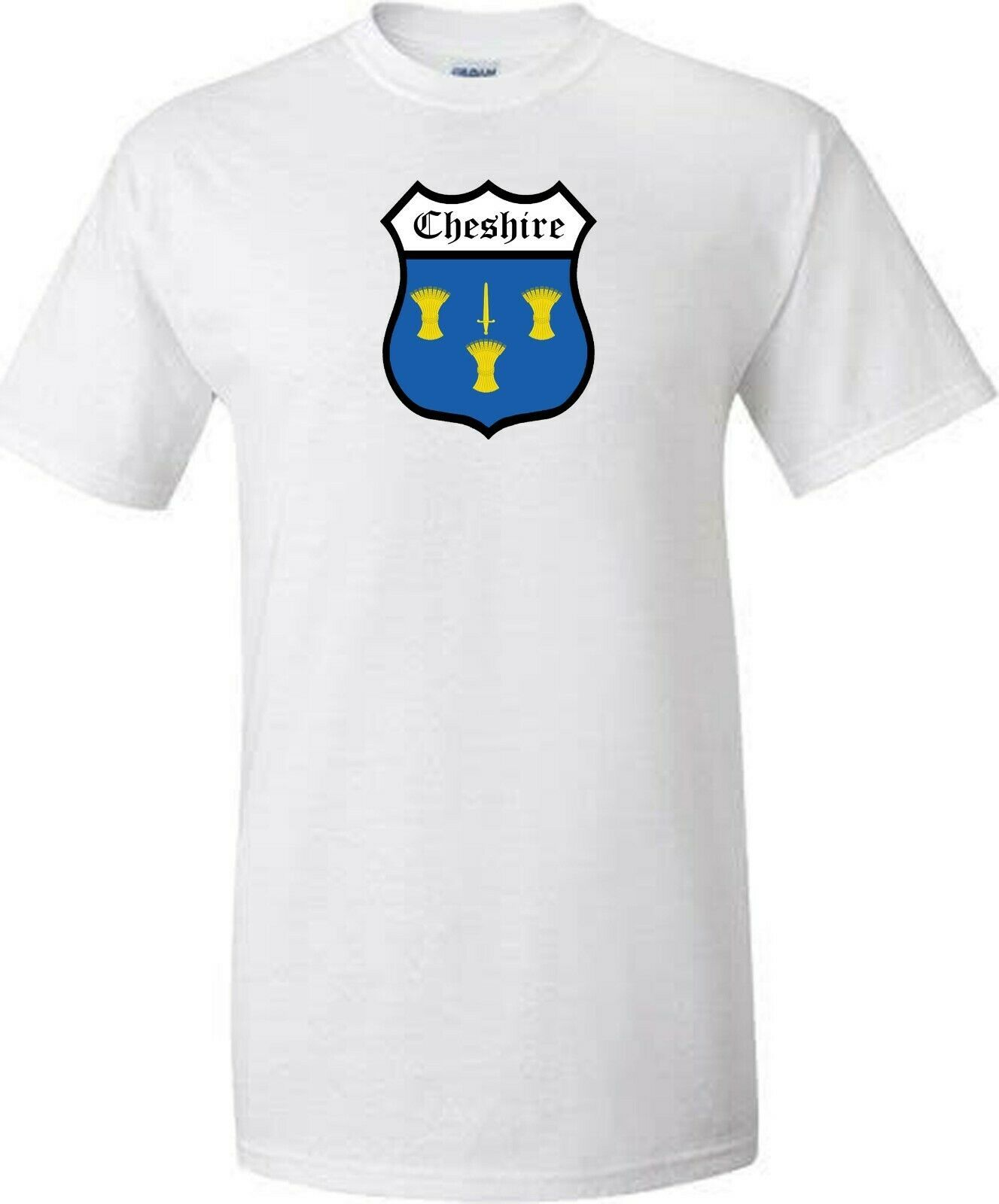 Cheshire t shirt iron on badge or stickers