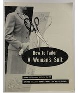 How to Tailor a Woman's Suit Home and Garden Bulletin No. 20 - $9.99