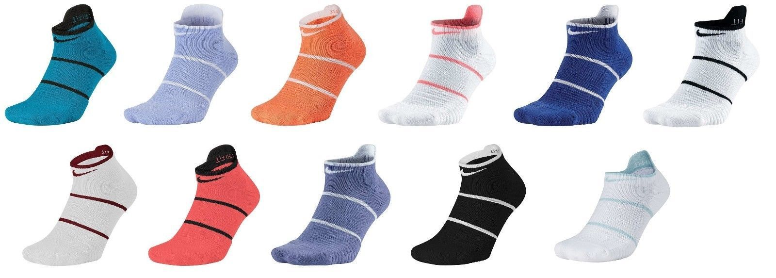 Primary image for New Nike Court Essential No Show Tennis Dri-Fit Socks L SX6914 Rafa Federer L/R