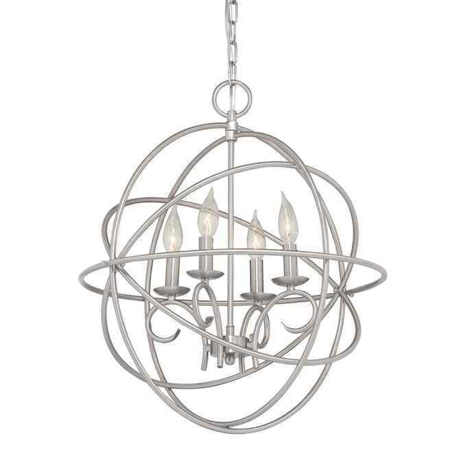 Primary image for Kichler Vivian 4-Light Brushed Nickel Modern/Contemporary Cage Chandelier