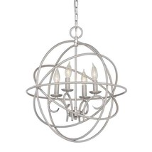 Kichler Vivian 4-Light Brushed Nickel Modern/Contemporary Cage Chandelier - $158.39